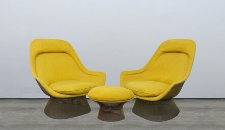 Warren Platner, 'Pair of Lounge Chairs and Ottoman'