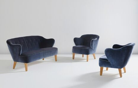 Flemming Lassen, 'Sofa and pair of armchairs', ca. 1940
