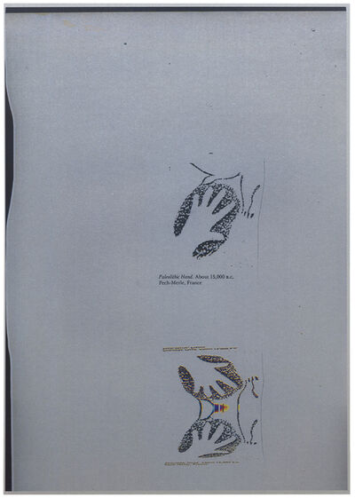 Joëlle Tuerlinckx, ''BOUGÉ silver #1' -série 'Paleolithic hand. About 15,000 B.C., Pech-Merle, France', 2016