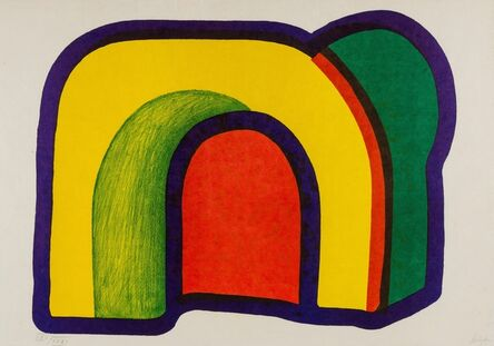 Howard Hodgkin, 'Composition with Red (Arch) (Heenk 10)', 1970