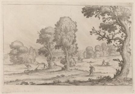 Ercole Bazicaluva, 'Men Fighting in a Landscape', 1638