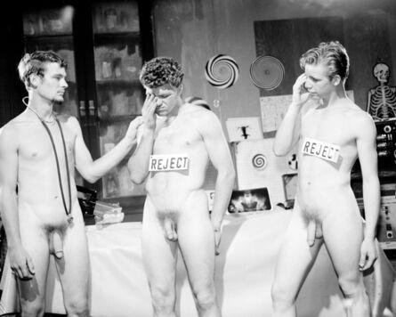 "Bob Mizer, 'Production still from ""Boy Factory""', 1969"