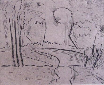 Karl Schmidt-Rottluff, 'Landscape with Sun I Landschaft mit Sonne', 1915