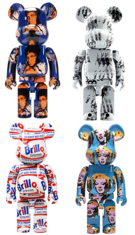 Andy Warhol, 'Andy Warhol Bearbrick 400% set of 4 works (Warhol BE@RBRICK)', c.2019-2021