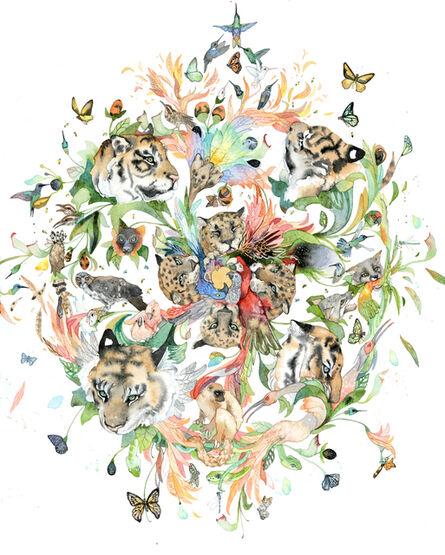 Laura Ball, 'Wild Flower Mandala', 2019