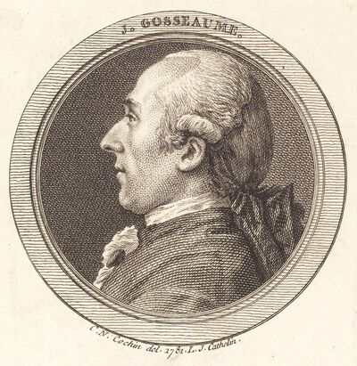 Louis-Jacques Cathelin after Charles-Nicolas Cochin II, 'J. Gosseaume', 1781