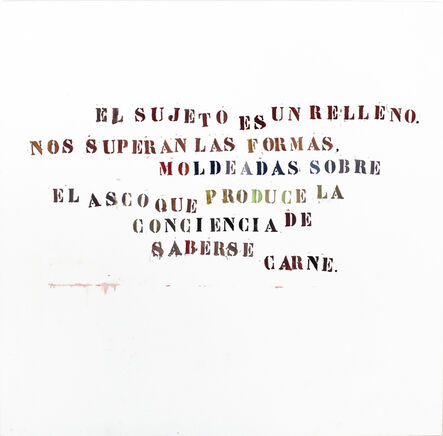 Gustavo Marrone, 'Untitled (El Sujeto...)', 2006