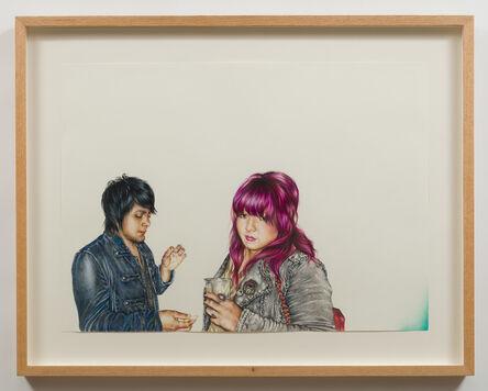 Shizu Saldamando, 'Grace and Ozzie', 2014