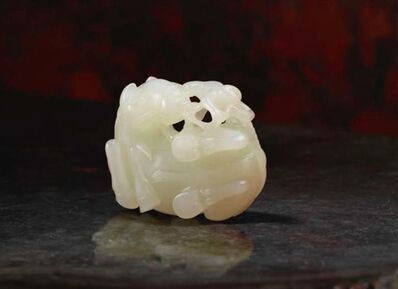 Unknown Chinese, 'A white jade horse and monkey group', China: Qianlong (1736-95)