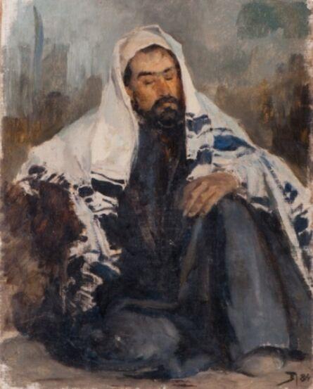 Vassily Dmitrievich Polenov, 'Portrait of Isaac Levitan in Oriental Constume', 1884