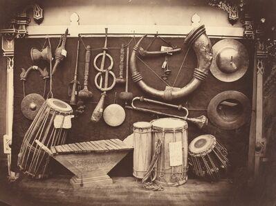 Edmond Lebel, 'Still Life of Musical Instruments', ca. 1863