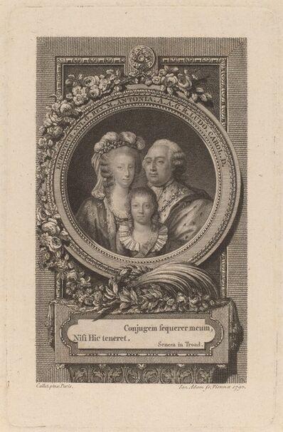 Jacob Adam after Antoine-François Callet, 'Louis XVI, Marie-Antoinette, and Louis-Charles', 1793