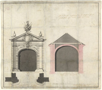 Balthasar Neumann, 'Design for a City Gate in Trier', 1746