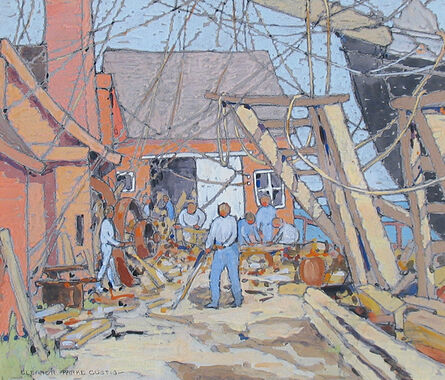 Eleanor Parke Custis, 'At the Dry Dock, Gloucester MA', 1924