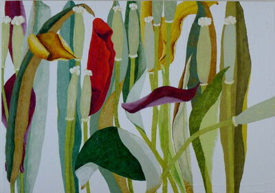Ulrike Stadler, 'Tulips Dying and Crying X'