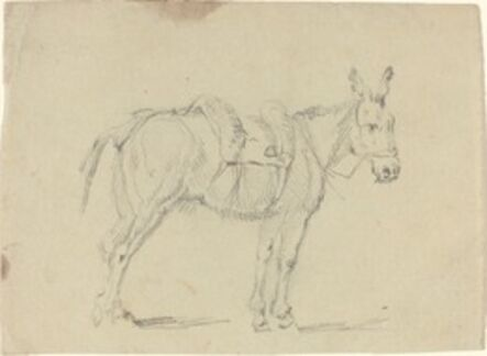 John Flaxman, 'Donkey Stretching a Hind Leg'