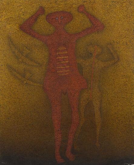 Rufino Tamayo, 'Personajes con Pájaros', 1988