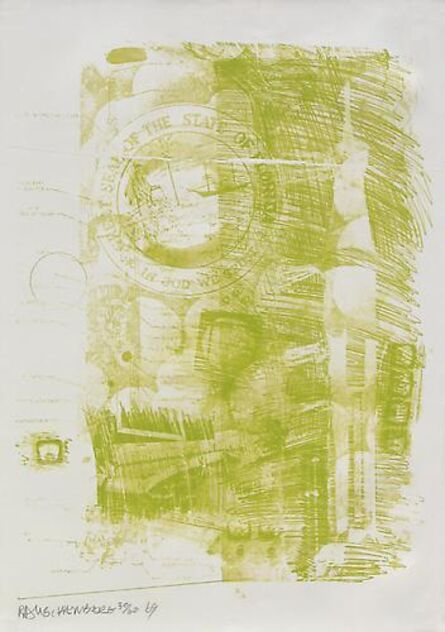 Robert Rauschenberg, 'Marsh', 1969