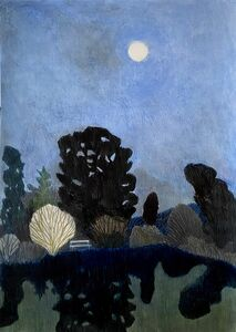 Per Adolfsen, 'Full moon and an empty Bench', 2021