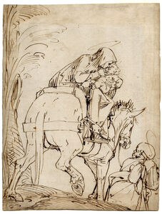 Luca Cambiaso, 'The Flight into Egypt', 1555-1565