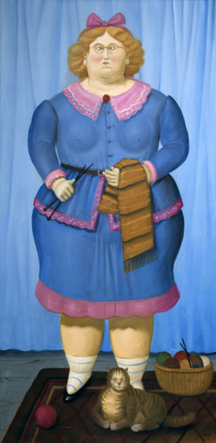 Fernando Botero, 'Tejedora ', 2009