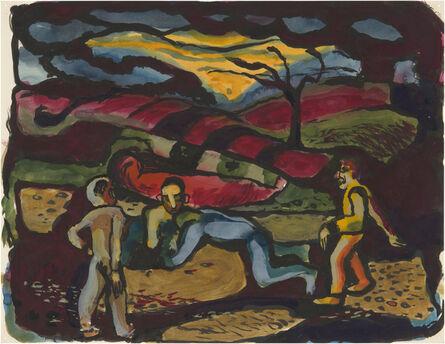 Richard Diebenkorn, 'Duel at Dawn', ca. 1945