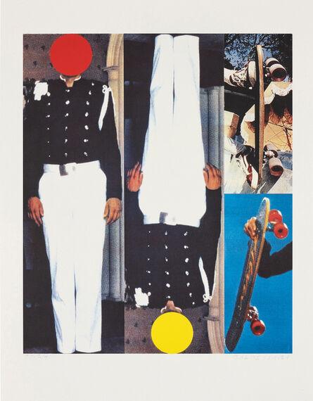 John Baldessari, 'Two Erect Figures/Two Skateboards', 1995