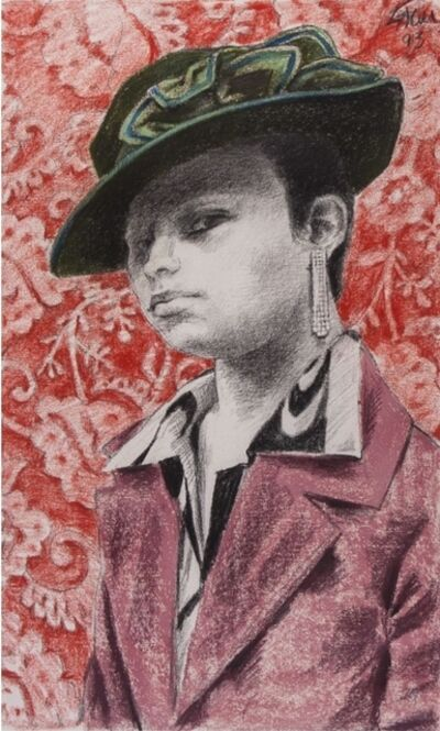 Enrique Grau, 'Mujer con Sombrero ', 1993