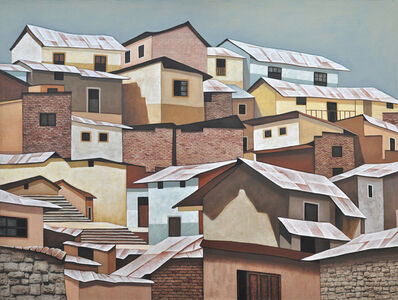Silvia PintoSouza, 'Tin Roofs I _ Rural South American towns, Colorful textures, Earth tones', 2019