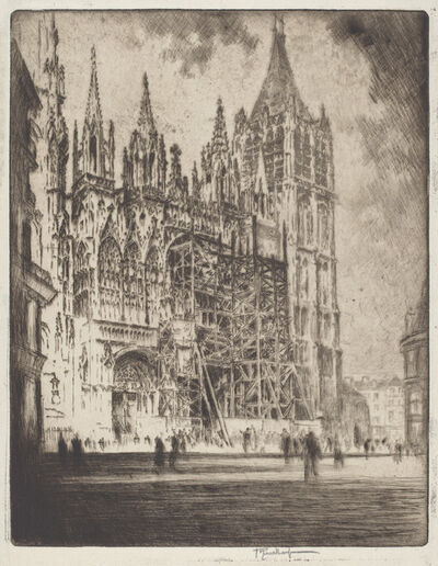 Joseph Pennell, 'The West Front, Rouen Cathedral', 1907