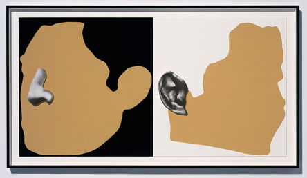 John Baldessari, 'Noses & Ears Etc.: The Gemini Series Two Profiles, One With Nose (B&W); One With Ear (B&W)', 2006