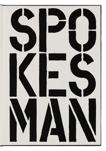 Christopher Wool, 'Spokesman (page from Black Book) ', 1989