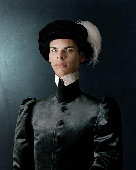 Christian Tagliavini, 'Ritratto di Giovane Uomo Con Capello Plumato', 2010