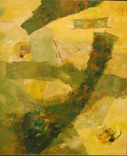 Ram Kumar, 'UNTITLED ABSTRACT (GREEN/YELLOW)', 2007