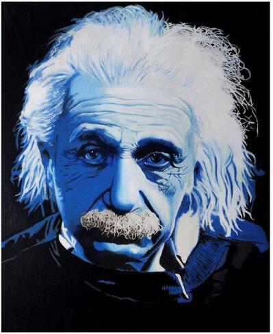 Steve Kaufman, 'Einstein Blue', 2007