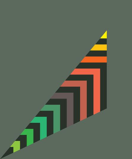 Gary Andrew Clarke, 'Stripey Scalene Triangle', 2020
