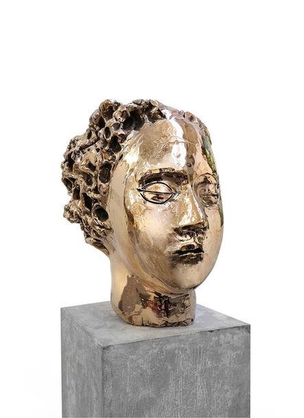 Vanessa Beecroft, 'Bronze Head (Gold) vb.b.005', 2014