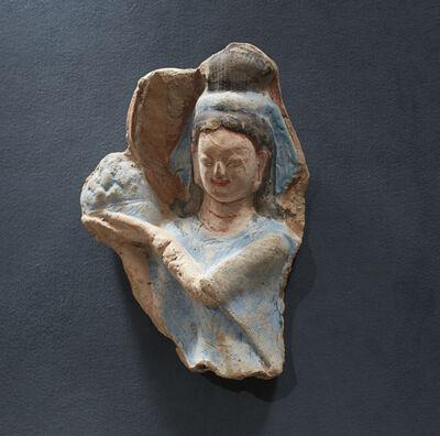 'Celestial Maiden (apsara), holding a lotus blossom', mid-6th century