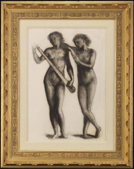 Edward Burne-Jones, 'Two Musicians', 1870