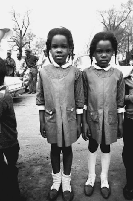 Steve Schapiro, 'Twins Watching the Selma March', 1965