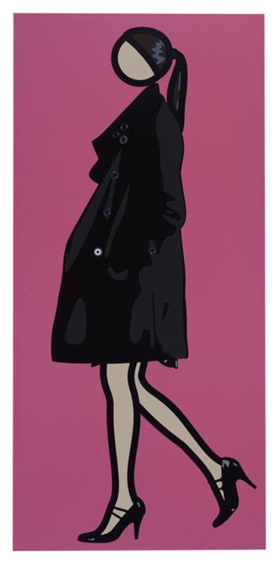 Julian Opie, 'Verity Walking in Overcoat', 2010