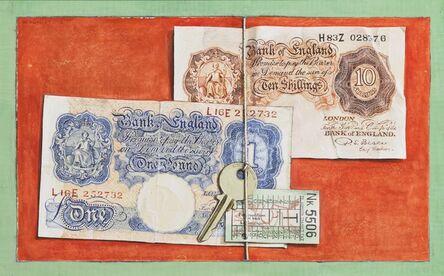 William Kurelek, 'Still Life with Treasury Notes', circa 1955