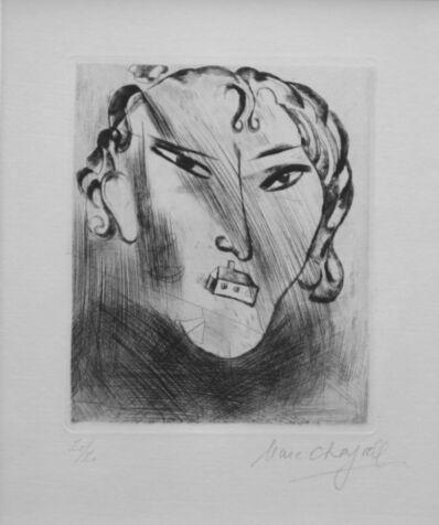 Marc Chagall, 'Selbstbildnis mit Haus im Gesicht'