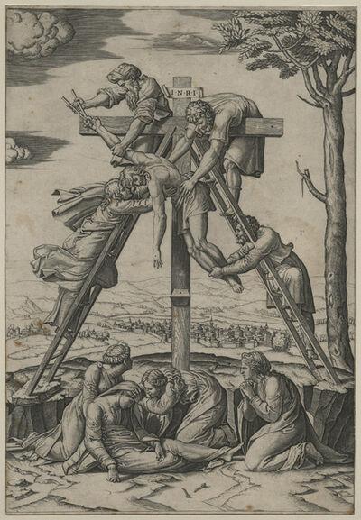 Marcantonio Raimondi, 'Descent from the Cross [after Raphael Sanzio (1483-1520)]', ca. 1520