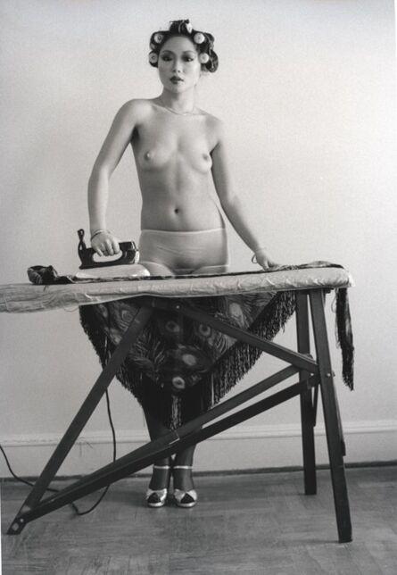 Arlene Gottfried, 'Eddie Suns's friend ironing, NY', 1972