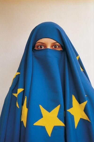Burak Delier, 'Untitled (Girl with EU Flag)', 2004
