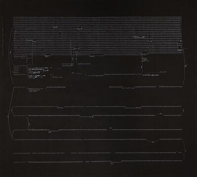 Carlo Alfano, 'Frammenti di un autoritratto anonimo n. 69', 1973