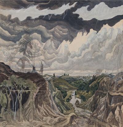 Charles Ephraim Burchfield, 'Jaws of the World', 1920