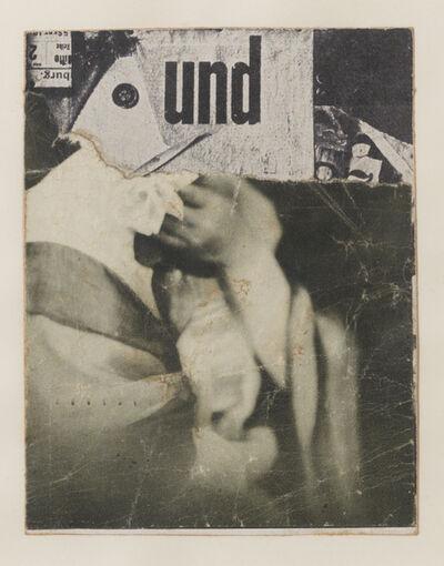 Kurt Schwitters, 'Ohne Titel (Collagierte Bildpostkarte Das Undbild)', circa. 1930