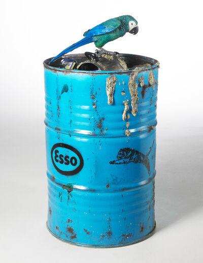 Bertozzi & Casoni, 'Barile con Pappagallo (Barrel with Parrot)', 2007-2008